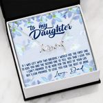 If I Was Left With Two Breaths Scripted Love Necklace Gift For Daughter