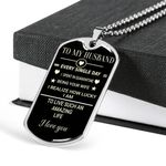 Being Your Wife How Lucky I Am Dog Tag Necklace Gift For Husband