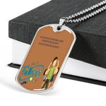 The Best Person For A Child Dog Tag Necklace Gift For Dad