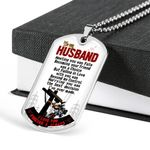 Meeting You Was Fate Stainless Dog Tag Pendant Necklace Gift For Firefighting Husband