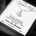 Loving You And Breathing Anchor Necklace Gift For Wife