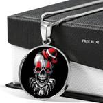Skull Clown Circle Pendant Necklace Gift For Women