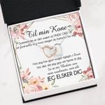 Interlocking Hearts Necklace Gift For Til Min Kone Jeg Elsker Dig