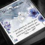 Promise You Won't Have To Face Obstacles Alone Forever Love Necklace Gift For Women