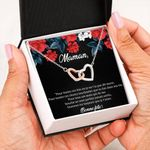 Interlocking Hearts Necklace Gift For Maman Meilleure Maman Du Monde