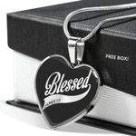 Blessed James 1 17 Heart Pendant Necklace Gift For Women