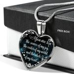 You Are The Source Of My Joy Heart Pendant Necklace Gift For Women