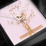 Our Friendship Is Like These Two Heart Stronger Than Apart Interlocking Hearts Necklace Gift For Women