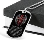 Angel Of God Dog Tag Pendant Necklace Gift For Men