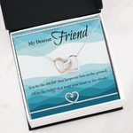 You Be The Anchor Interlocking Hearts Necklace Gift For Bff