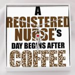 A Registered Nurse's Day Begins After Coffee Stethoscope Necklace Gift For Women