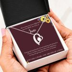 You Are One Of A Kind Forever Love Necklace June Birthday Gift For Women
