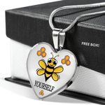 Bee Yourself Heart Pendant Necklace Gift For Women