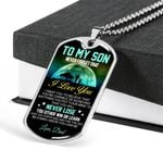 Dog Tag Pendant Necklace Gift For Son Be A Man I Know You Can Be