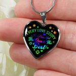 Our Love Story Is The Best Heart Pendant Necklace Gift For Darling