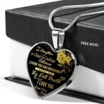 If I Had To Choose Yellow Rose Heart Pendant Necklace Gift For Daughter