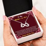 Happy Mother's Day I Fell In Love With Your Son Infinity Heart Necklace Gift For Mother In Law