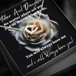 No Matter What We Do Interlocking Hearts Necklace Gift For Daughter