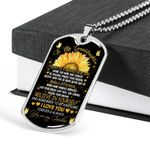 Dog Tag Pendant Necklace Gift For Granddaughter Today Is A Brand New Day