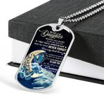 Never Forget Your Way Back Home Dog Tag Pendant Necklace Gift For Daughter