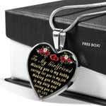 Making You Happy Is My Duty Heart Pendant Necklace Gift For Darling