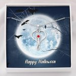 Happy Halloween Full Moon Stethoscope Necklace Gift For Women