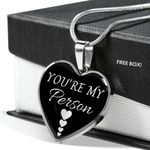 You're My Person Heart Pendant Necklace Gift For Wife