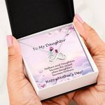 When Daughter Becomes Mother Infinity Heart Necklace Gift For Daughter