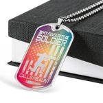 My Favourite Souldier US Army Stainless Dog Tag Pendant Necklace Gift For Aunt