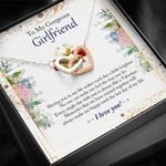 Having You In Life Interlocking Hearts Necklace Gift For Lovers