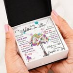 Mother In Law Colorful Tree Infinity Heart Necklace Gift For Mother In Law