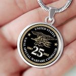 Naval Special Warfare Comand Circle Pendant Necklace Gift For Women