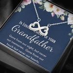 Gone From Our Touch Infinity Heart Necklace Gift For Grandpa