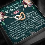 How Much You Really Care Interlocking Hearts Necklace Gift For Mother In Law