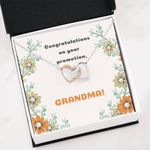 Congratulation On Your Promotion Infinity Heart Necklace Gift For Grandma