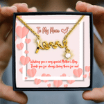 Thank For Being There For Me Scripted Love Necklace Gift For Mama