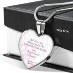 I Have A Diamond Heart Pendant Necklace Gift For Wife