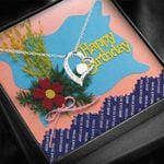 Happy Birthday Bouquet Of Flowers Forever Love Necklace Gift For Women