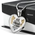 Butterfly Gold Angel Wings Heart Pendant Necklace Gift For Women
