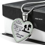 Always Will Love You Stainless Heart Pendant Necklace Gift For Soulmate