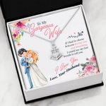 If I Had To Choose Wedding Day Anchor Necklace Gift For Wife