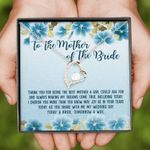 Thank You Blue Hibiscus Forever Love Necklace Gift For Mother Of The Bride