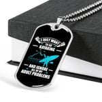 I Just Want To Go Kayaking Dog Tag Pendant Necklace Gift For Men