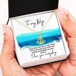 If We Don't See Eye To Eye Anchor Necklace Gift For Wife