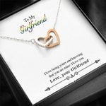 I Love Being Yours Interlocking Hearts Necklace Gift For Lovers