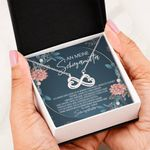 Infinity Heart Necklace Gift For An Meine Schiegermutter Loving Message Card