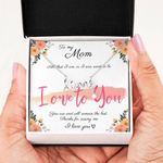 I Owe To You Scripted Love Necklace Gift For Mom