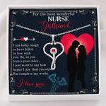 Stethoscope Necklace Gift For  Nurse Girlfriend You Complete My World