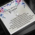 Keep That Space Filled With His Memory 14K White Gold Alluring Beauty Necklace Gift For Grandpa