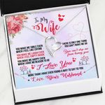 You Make Me Smile Forever Love Necklace Gift For Wife